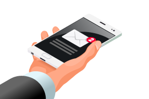 Subscribe button for email notifications illustration