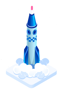 Rocket symbol for growth